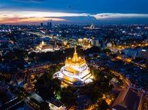 Wat Saket in Bangkok - Temple of the Golden Mount. Ain Stock Photography
