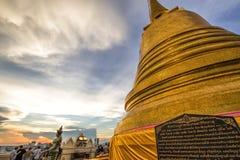 Wat Saket em Banguecoque Tailândia Imagens de Stock