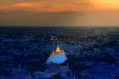 Wat Saket (Golden Mount) in Bangkok Royalty Free Stock Image