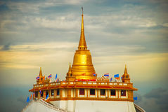 Wat Saket Golden Mountain Bangkok, Thailand Stock Photos