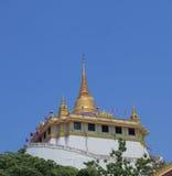 Wat Saket Golden Mountain Buddhism temple Thailand Royalty Free Stock Image