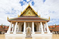 Wat Saket Phu Khao皮带 库存照片