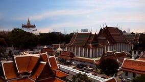 Wat Saket Ratcha Wora Maha Wihan. Temple of Bangkok Thailand Buddhist Stock Photo
