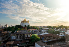 Wat Saket (Saket Tample) Tailandia Fotos de archivo