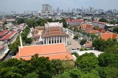 Wat Saket Temple, señal del viaje de Bangkok Foto de archivo libre de regalías