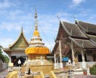 Wat San Pa Yang Nom lamphun Thailand royaltyfri foto
