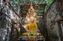 Wat Sang Kratai är 400 år gammal tempel Arkivfoton