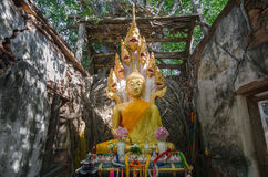 Wat Sang Kratai is 400 years old temple. Stock Photos
