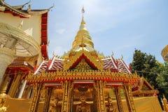 Wat Sanpa Yang Luang Lamphun, Thailand arkivfoton