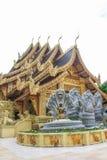 Wat Sanpa Yang Luang, templo tailandês em Lamphun Tailândia Fotos de Stock Royalty Free