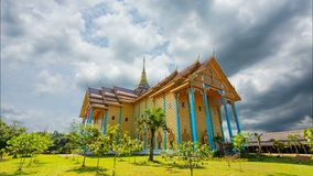 Wat saphan Leuxk, the landmark of Buddhism. Places of beauty. The temple has murals that are Buddhist stories of the Buddha. The temple is the largest stock video footage
