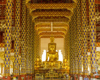 Buddha Statue in Wat Saun Dok Temple Royalty Free Stock Photography