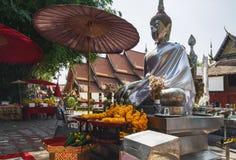 Wat Si素攀武里或银色寺庙在泰国 免版税库存照片