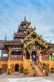 Wat Si Bunrruang in città di Nan, Tailandia Fotografia Stock Libera da Diritti