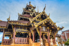 Wat Si Bunrruang in città di Nan, Tailandia Immagini Stock
