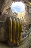 Wat Si Chum no parque histórico de Sukhothai, Sukhothai, Tailândia Foto de Stock