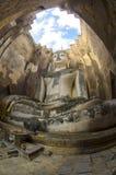 Wat Si Chum no parque histórico de Sukhothai, Sukhothai, Tailândia Imagem de Stock Royalty Free