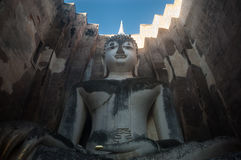 Wat Si Chum in Sukhothai Historical Park is a historic site, big statue Buddha Phra Achana, Sukhothai Thailand Stock Photography