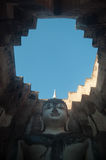 Wat Si Chum in Sukhothai Historical Park is a historic site, big statue Buddha Phra Achana, Sukhothai Thailand Royalty Free Stock Photos