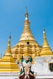 Golden Pagoda at Myawaddy, Karen State, Myanmar Royalty Free Stock Photography