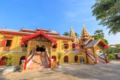 Wat Si Chum temple, beautiful monastery decorated in Myanmar and Lanna style at Lampang, Thailand.  royalty free stock photos