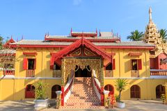 Wat Si Chum temple, beautiful monastery decorated in Myanmar and Lanna style at Lampang, Thailand.  royalty free stock image