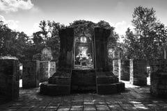 Wat Si Chum Temple  Monochrome. The Buddha Stock Photo