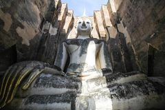 Wat Si Chum, templo de Srichum, parque histórico de Sukhothai Imagem de Stock