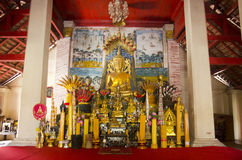 Wat Si Khun Mueang temple for thai people respect and praying Royalty Free Stock Photography