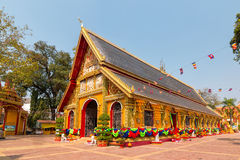 Wat Si Muang, Buddhist temple in Vientiane. Royalty Free Stock Images