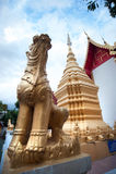 Wat Si Ping Mueng Chiang Mai, Thailand Arkivfoton