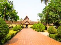Wat Si Saket буддийское wat в Вьентьяне, Лаос стоковые изображения