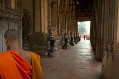 Wat Si Saket Buddhas - Vientiane Arkivfoton