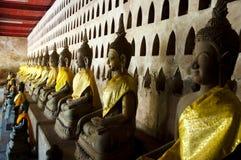 Wat Si Saket Buddhas - Vientiane Arkivbilder