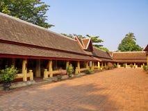 Wat Si Saket est un temple bouddhiste qui a autrefois tenu l'Emeral Photo stock