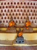 Wat Si Saket est un temple bouddhiste qui a autrefois tenu l'Emeral Image stock