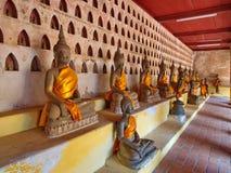 Wat Si Saket est un temple bouddhiste qui a autrefois tenu l'Emeral Photos stock
