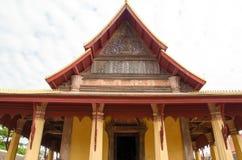Wat Si Saket est un wat bouddhiste à Vientiane photos libres de droits