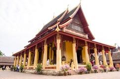 Wat Si Saket est un wat bouddhiste à Vientiane photographie stock libre de droits