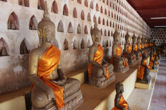 Wat Si Saket tempel Arkivbilder