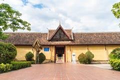 Wat Si Saket Vientiane, Laos Arkivbilder