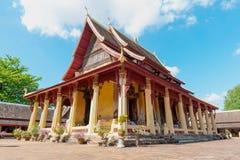 Wat Si Saket Vientiane, Laos Arkivfoto