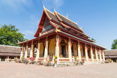 Wat Si Saket in Vientiane Laos. Wat Si Saket, Buddish temple in Vientiane Laos with blue sky Stock Photography