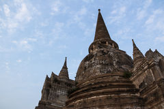Wat Si Sanphet Thailand. Pagoda of Wat Si Sanphet Thailand Royalty Free Stock Images