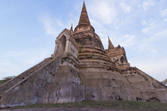 Wat Si Sanphet Thailand. Wide Angle of Wat Si Sanphet Thailand Royalty Free Stock Images