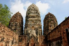 Wat Si Sawai, Historical Park, Sukhothai Royalty Free Stock Photos