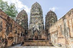 Wat Si Sawai, Shukhothai Dziejowy park, Tajlandia Obraz Stock