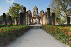 Wat Si Sawai in Sukhothai Historical Park Royalty Free Stock Photos