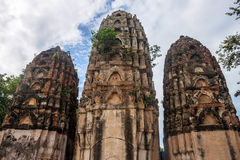 Wat Si Sawai temple ruin Royalty Free Stock Photo
