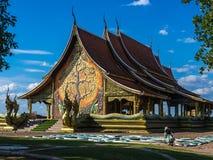 Wat Sirindhorn Wararam, oriëntatiepunt in Thailand royalty-vrije stock afbeelding